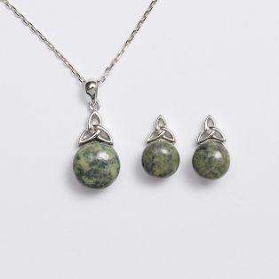 Sterling Silver Celtic Trinity Knot Jewelry Set