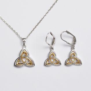 The Trinity Knot Earrings & Pendant Set