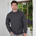 Donegal Curl Neck Aran Sweater