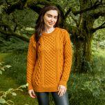 Donegal Merino Blasket Honeycomb Stitch Aran Sweater