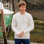 The Blasket Honeycomb Stitch Aran Sweater